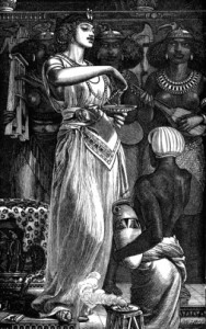 Cleopatra VII (69-30 B), Queen of Egypt, Dissolving Pearls in Wine, 1866